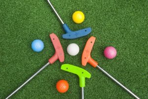 artificial grass golf ball