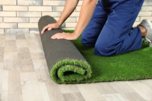 folding Synthetic grass