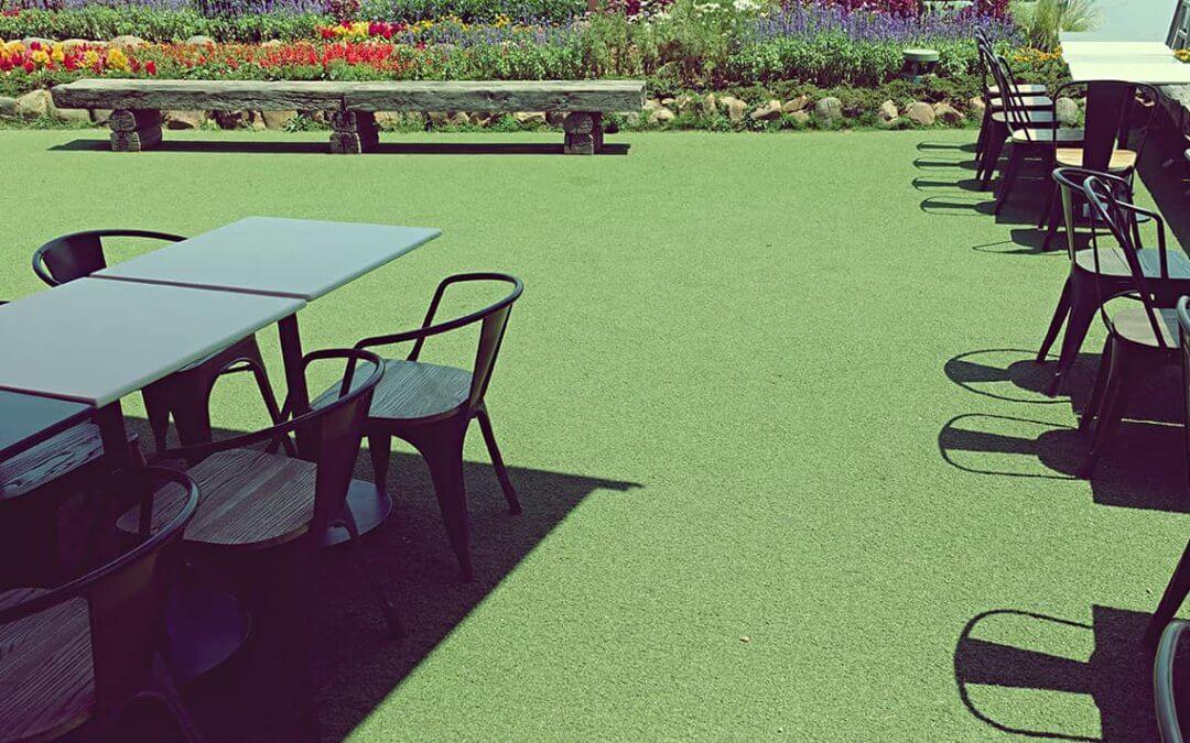 Terrific Terrace Designs Using Synthetic Grass in Modesto, CA